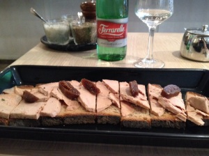 My first French meal - a foie gras tar tine