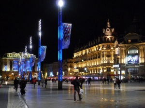Place de la Comedie at Night