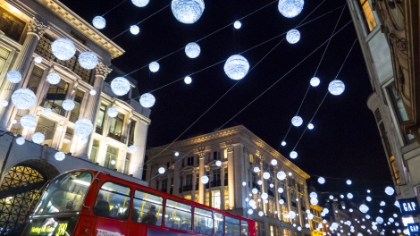 Winter Lights Lining Oxford Street