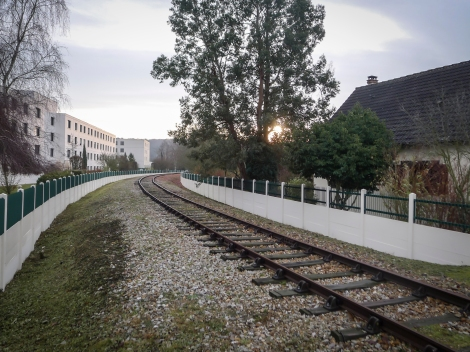 Louviers may be the only Bethel branch with train tracks running right through the middle of it...