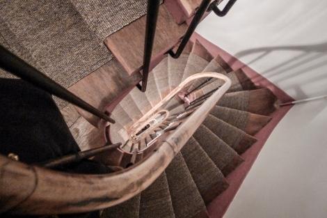 Looking down 8 flights of stairs