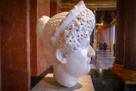 Sculture showing the elaborate hair-braiding styles of the Roman women (1 Tim 2:9)