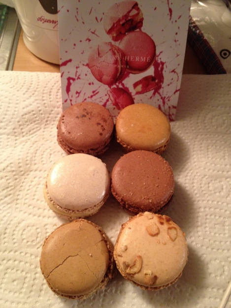 The Macarons of Pierre Hermé (eaten later at our apartment)