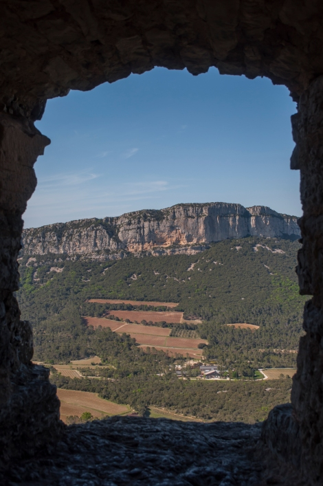Looking out from Chateau Montferrand