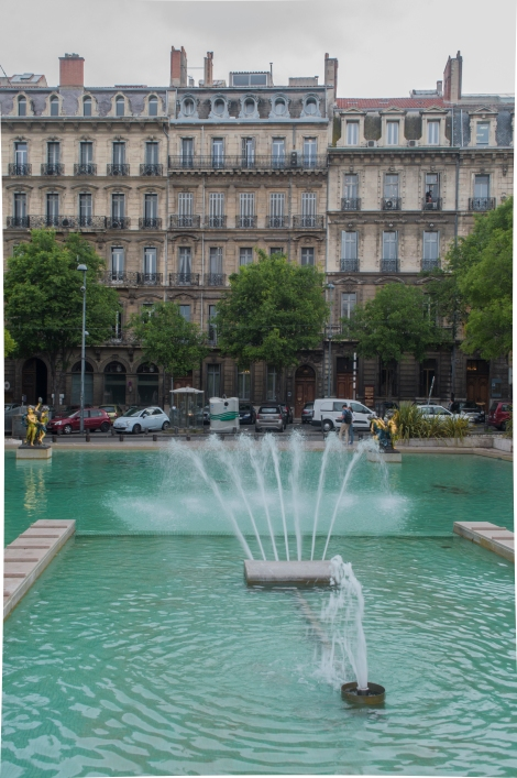 Fountain in front of Palais de la Justice