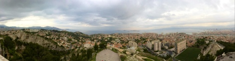 Panoramic of Marseille and its beautiful surroundings