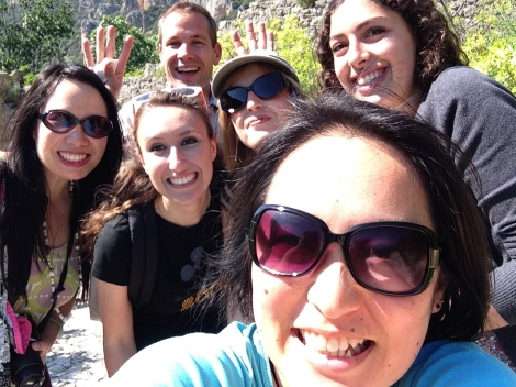 Happy hiking selfie before we realized how far we would have to hike...