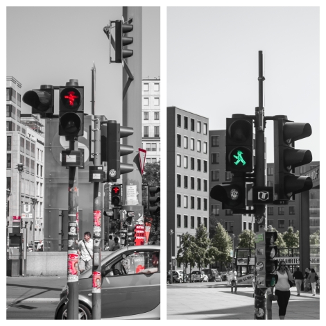 I love the Ampelmann!  These distinct pedestrian traffic signals were designed by the East Germans and kept around after the reunification of Germany due to their clear symbols and widespread acceptance