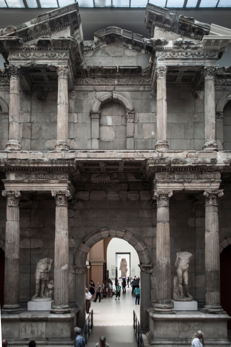 Just a portion of the massive reconstructed Market Gate of Miletus, originally built in the 2nd century CE, serving as the the northern entrance to the Southern market