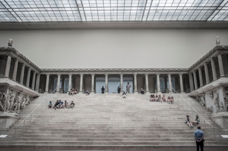 The monumental Pergamon Altar, originally built during the first half of the 2nd century BCE