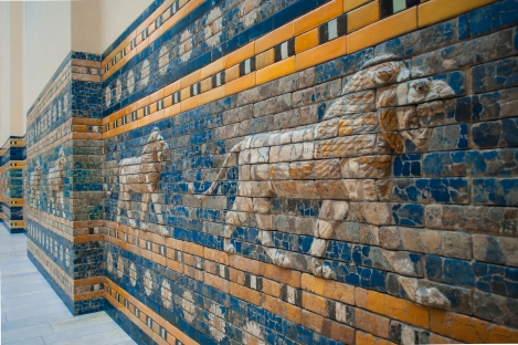Lions leading the Processional Way to the Ishtar Gate