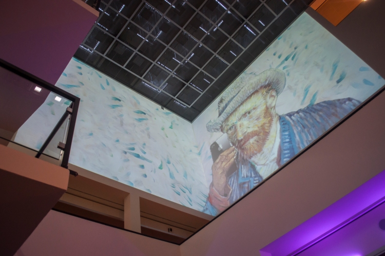 Art meets Technology at the museum atrium: Van Gogh takes a selfie...