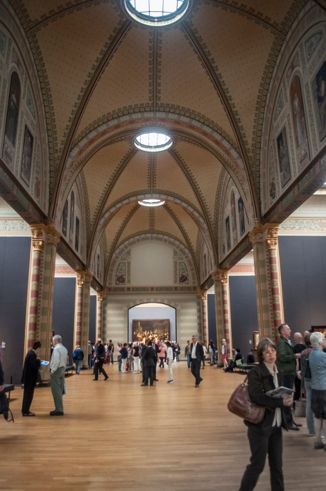 This Grand Hall was designed to visually focus the visitor towards the museum's most famous piece - Rembrandt's The Night Watch