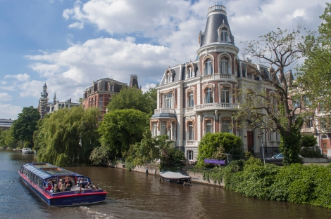 Just one of Amsterdam's many canals