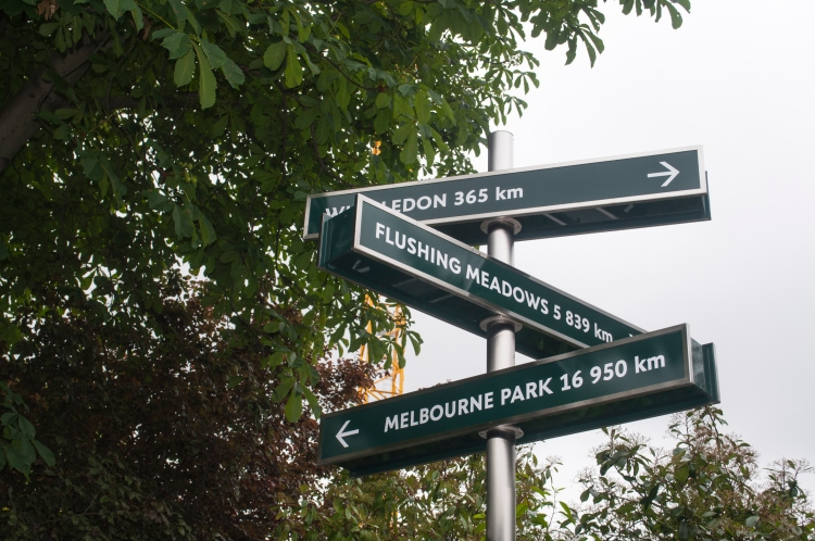 Directions to the other 3 major tennis tournaments