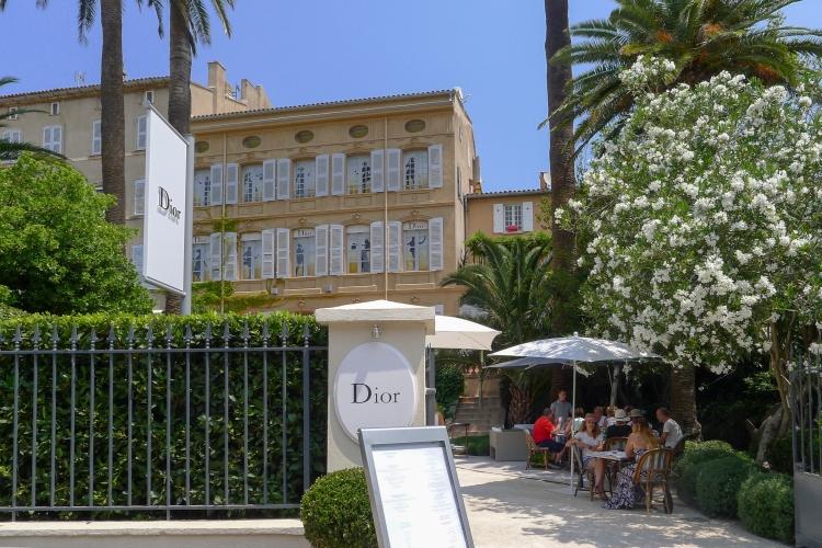 Dior actually has a restaurant in Saint Tropez