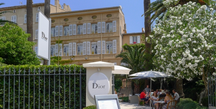 Dior actually has a restaurant in Saint Tropez
